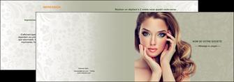 imprimerie depliant 2 volets  4 pages  centre esthetique  beaute bien etre coiffure MLGI29876
