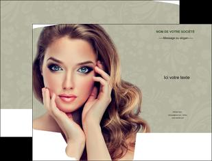 maquette en ligne a personnaliser pochette a rabat centre esthetique  beaute bien etre coiffure MLGI29882