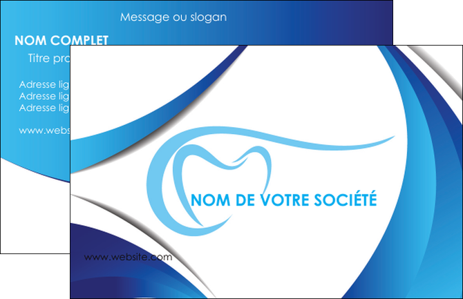 Creation Graphique En Ligne Carte De Visite Dentiste Dents Dentisterie MLGI29930