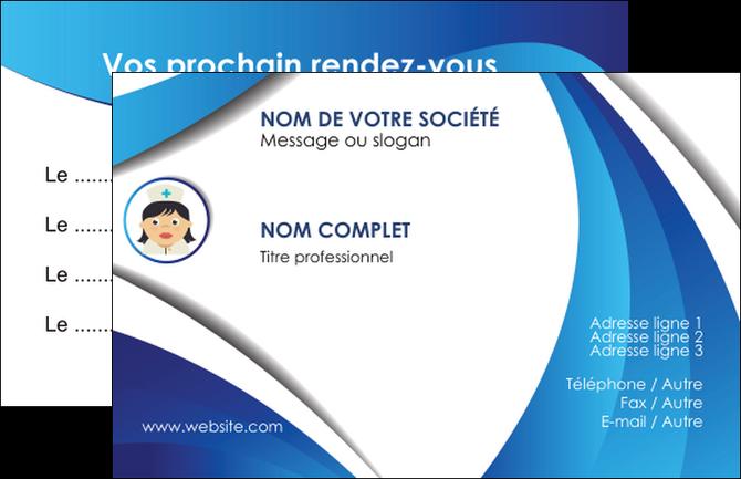 personnaliser modele de carte de visite infirmier infirmiere medecin medecine docteur MLGI30004