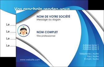 personnaliser modele de carte de visite infirmier infirmiere medecin medecine docteur MIF30004