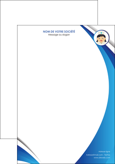 modele en ligne tete de lettre infirmier infirmiere medecin medecine docteur MIF30006