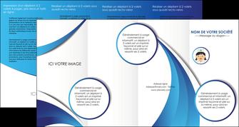 personnaliser maquette depliant 4 volets  8 pages  infirmier infirmiere medecin medecine docteur MIF30012