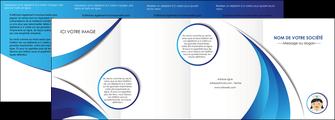 personnaliser modele de depliant 4 volets  8 pages  infirmier infirmiere medecin medecine docteur MIF30016