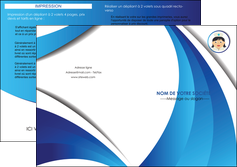 modele depliant 2 volets  4 pages  infirmier infirmiere medecin medecine docteur MIF30018