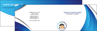 creation graphique en ligne carte de visite infirmier infirmiere medecin medecine docteur MIF30022