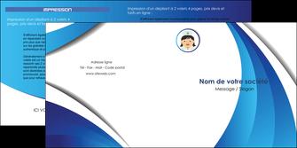 creation graphique en ligne depliant 2 volets  4 pages  infirmier infirmiere medecin medecine docteur MIF30030
