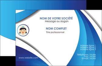 creation graphique en ligne carte de visite infirmier infirmiere medecin medecine docteur MIF30034