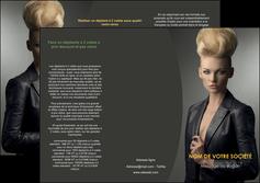 faire depliant 3 volets  6 pages  centre esthetique  coiffure beaute salon MLGI30214