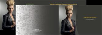 personnaliser modele de depliant 2 volets  4 pages  centre esthetique  coiffure beaute salon MLGI30228