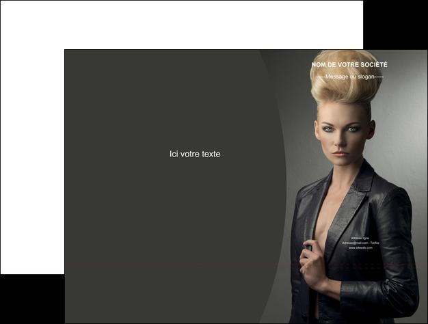 personnaliser modele de pochette a rabat centre esthetique  coiffure beaute salon MIF30232
