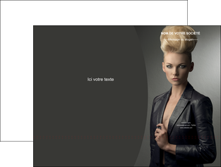 personnaliser modele de pochette a rabat centre esthetique  coiffure beaute salon MLGI30232