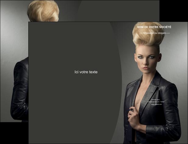 maquette en ligne a personnaliser pochette a rabat centre esthetique  coiffure beaute salon MLGI30234