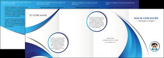 personnaliser maquette depliant 4 volets  8 pages  materiel de sante medecin medecine docteur MLGI30334
