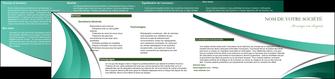 modele depliant 2 volets  4 pages  infirmier infirmiere medecin medecine sante MIF30378