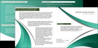 personnaliser maquette depliant 2 volets  4 pages  infirmier infirmiere medecin medecine sante MLGI30392