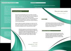 modele depliant 2 volets  4 pages  infirmier infirmiere medecin medecine sante MIF30394