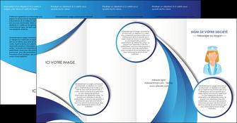 personnaliser modele de depliant 4 volets  8 pages  infirmier infirmiere infirmiere infirmerie blouse MLGI30452