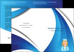 maquette en ligne a personnaliser depliant 2 volets  4 pages  infirmier infirmiere infirmiere infirmerie blouse MLGI30460