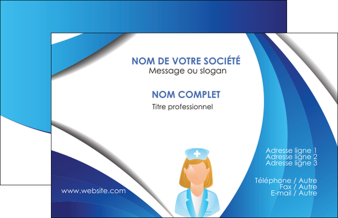faire modele a imprimer carte de visite infirmier infirmiere infirmiere infirmerie blouse MLGI30476