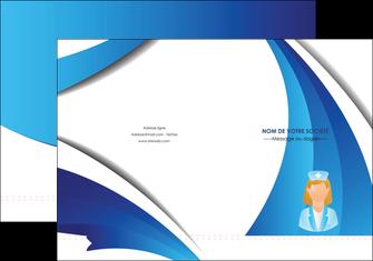 creation graphique en ligne pochette a rabat infirmier infirmiere infirmiere infirmerie blouse MLGI30478