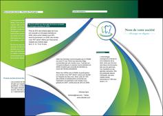 maquette en ligne a personnaliser depliant 2 volets  4 pages  dentiste dents dentiste dentier MLGI30484