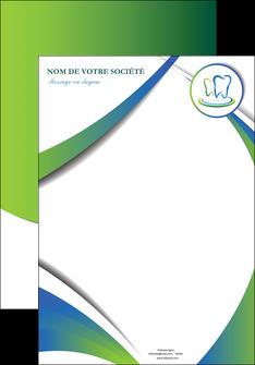 creation graphique en ligne affiche dentiste dents dentiste dentier MLGI30506