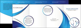 creer modele en ligne depliant 4 volets  8 pages  materiel de sante medecin medecine docteur MLGI30572