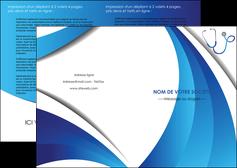 realiser depliant 2 volets  4 pages  materiel de sante medecin medecine docteur MLIG30576