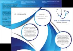 cree depliant 3 volets  6 pages  materiel de sante medecin medecine docteur MLGI30582