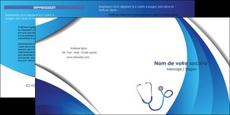 imprimerie depliant 2 volets  4 pages  materiel de sante medecin medecine docteur MLIG30586