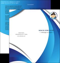 creation graphique en ligne depliant 2 volets  4 pages  chirurgien medecin medecine sante MIF30616