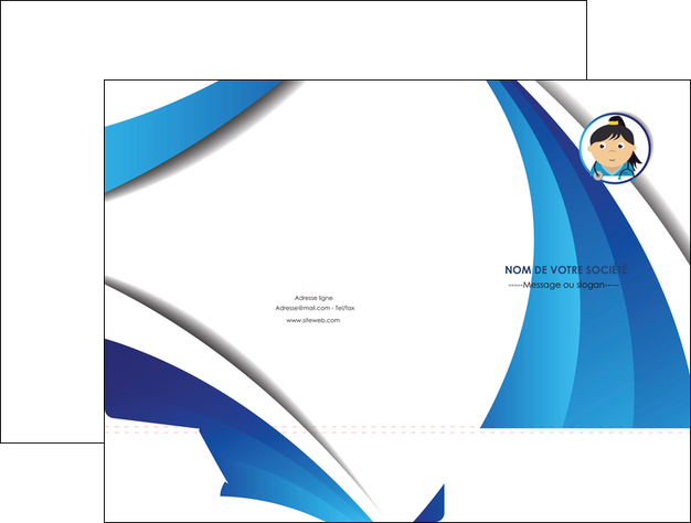 maquette en ligne a personnaliser pochette a rabat chirurgien medecin medecine sante MIF30634