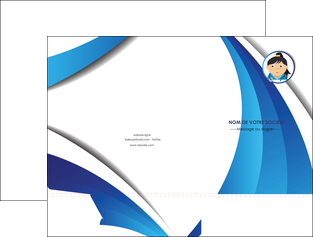 maquette en ligne a personnaliser pochette a rabat chirurgien medecin medecine sante MLGI30634