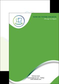 maquette en ligne a personnaliser flyers dentiste dents dentiste dentier MLGI30650