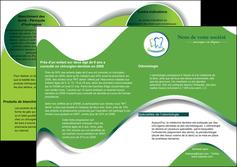 personnaliser modele de depliant 2 volets  4 pages  dentiste dents dentiste dentier MLGI30658
