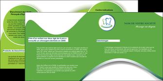 modele en ligne depliant 2 volets  4 pages  dentiste dents dentiste dentier MLGI30660