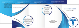 imprimerie depliant 4 volets  8 pages  chirurgien medecin medecine sante MIS30710