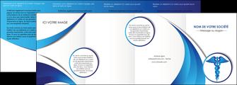 personnaliser maquette depliant 4 volets  8 pages  chirurgien medecin medecine sante MIS30712
