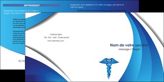 exemple depliant 2 volets  4 pages  chirurgien medecin medecine sante MIS30724