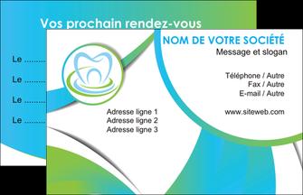 personnaliser maquette carte de visite dentiste dents dentiste dentier MLGI30782