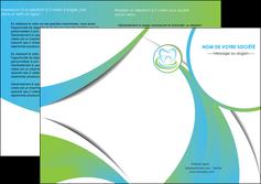imprimerie depliant 2 volets  4 pages  dentiste dents dentiste dentier MLGI30794