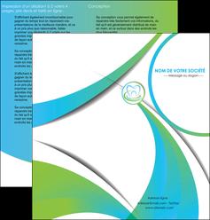 creation graphique en ligne depliant 2 volets  4 pages  dentiste dents dentiste dentier MLGI30796