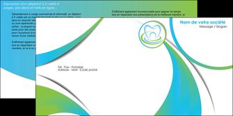personnaliser maquette depliant 2 volets  4 pages  dentiste dents dentiste dentier MLGI30808