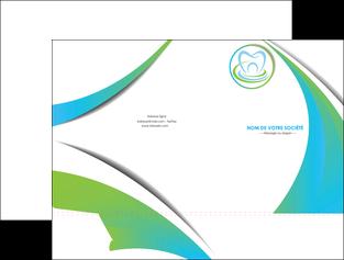 personnaliser maquette pochette a rabat dentiste dents dentiste dentier MLGI30816