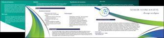 modele en ligne depliant 2 volets  4 pages  dentiste dents dentiste dentier MLGI30834
