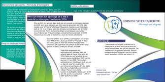 modele en ligne depliant 2 volets  4 pages  dentiste dents dentiste dentier MLGI30850