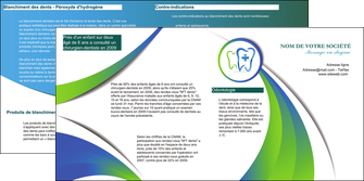 exemple depliant 2 volets  4 pages  dentiste dents dentiste dentier MLGI30858
