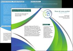 personnaliser modele de depliant 2 volets  4 pages  dentiste dents dentiste dentier MLGI30882