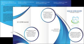 modele depliant 4 volets  8 pages  dentiste dents dentiste dentier MLIG30978